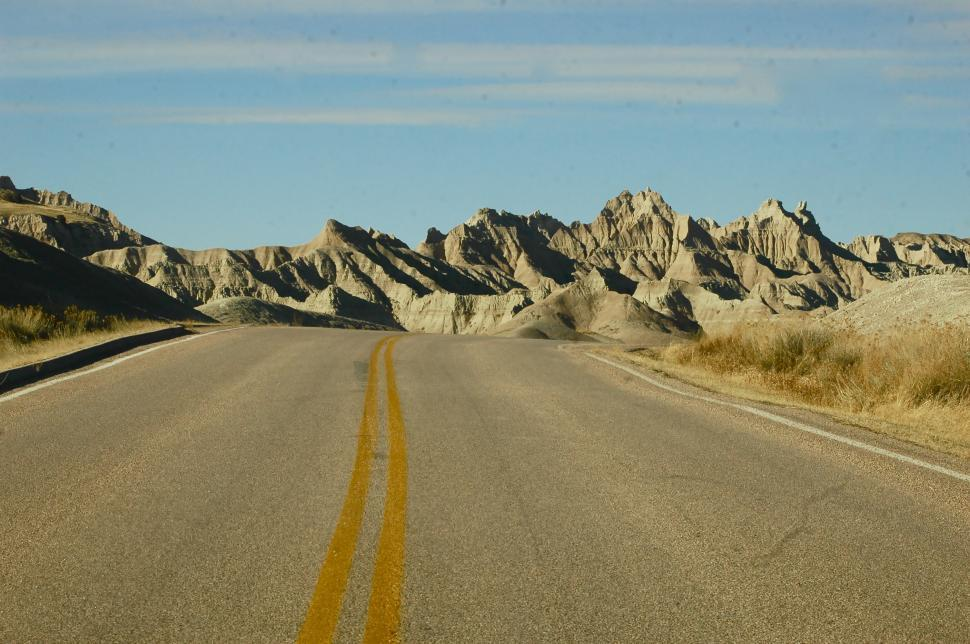 Download Free Stock HD Photo of Badlands Highway Online