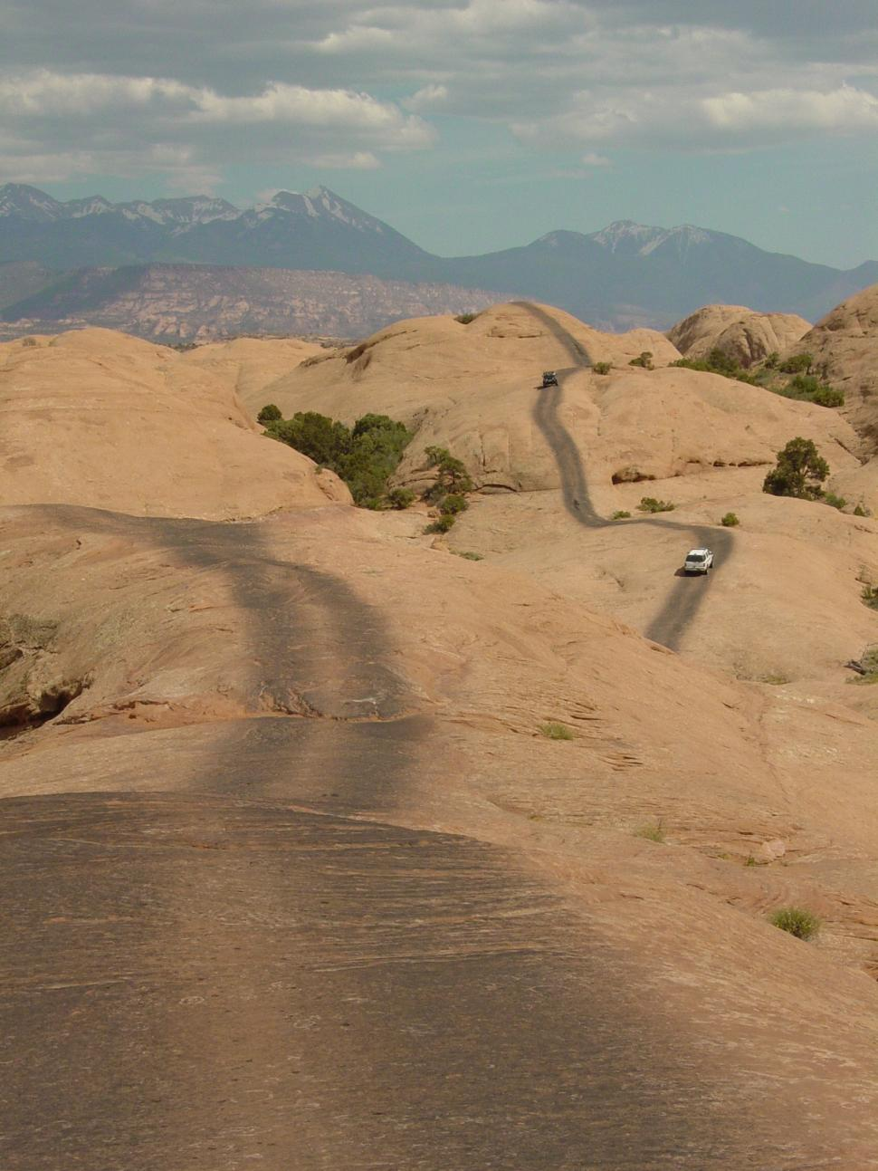 Download Free Stock HD Photo of 4x4 Off Road Trail through the Desert Online