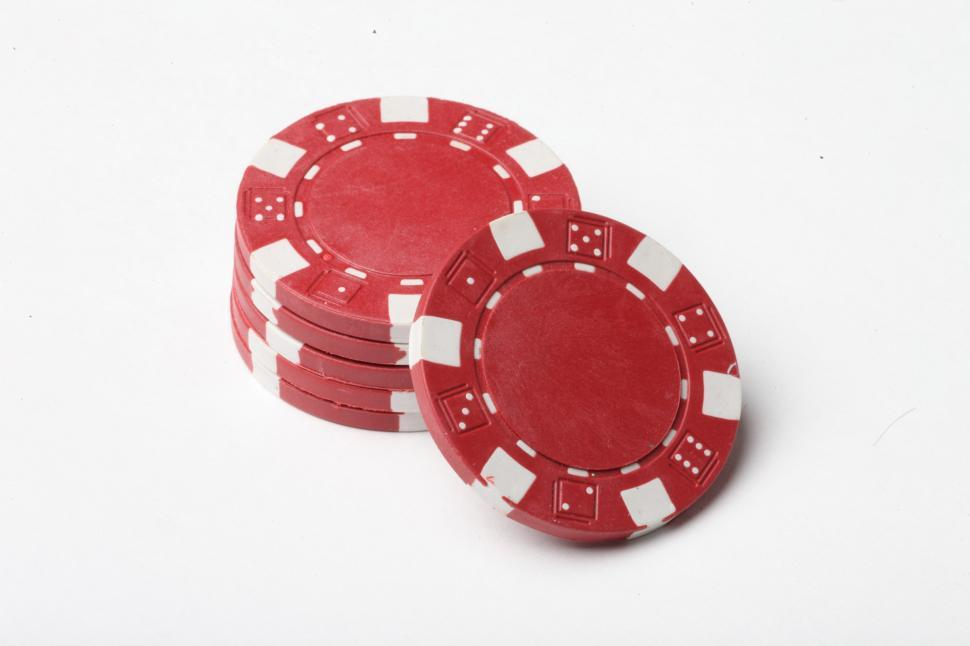 Download Free Stock Photo of Red Poker Chips