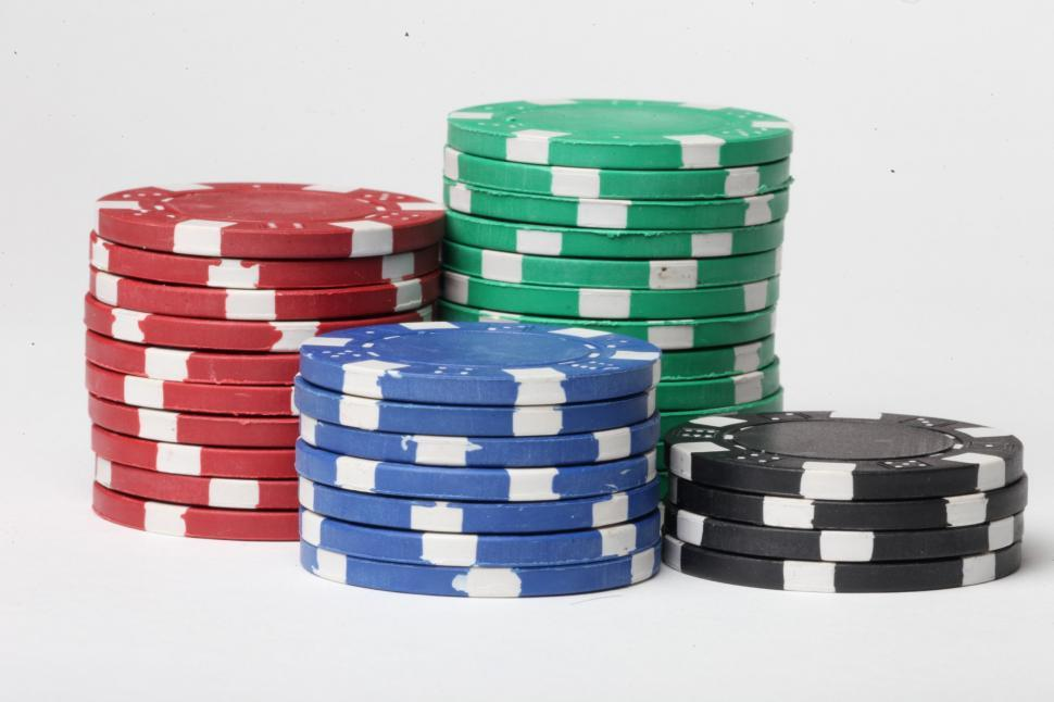 Download Free Stock Photo of Poker Chip Stacks