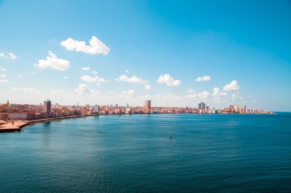 Download Free Stock HD Photo of Havana, Cuba shoreline Online