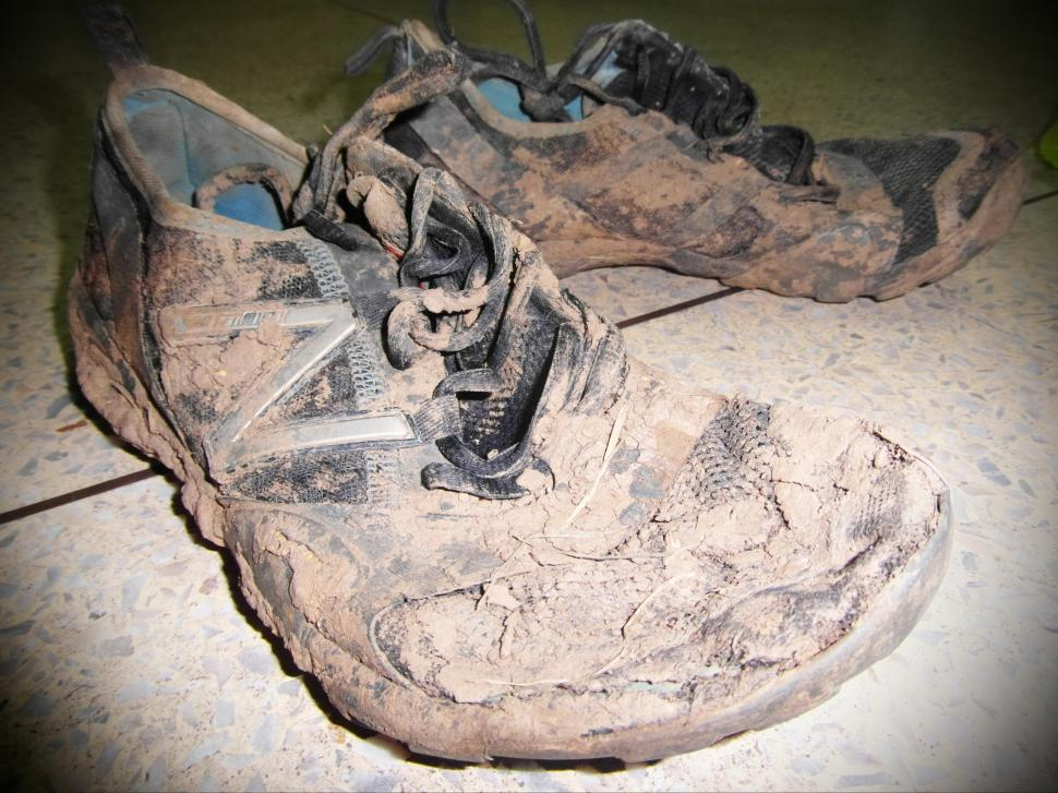 Download Free Stock HD Photo of Muddy Sport Shoes Online