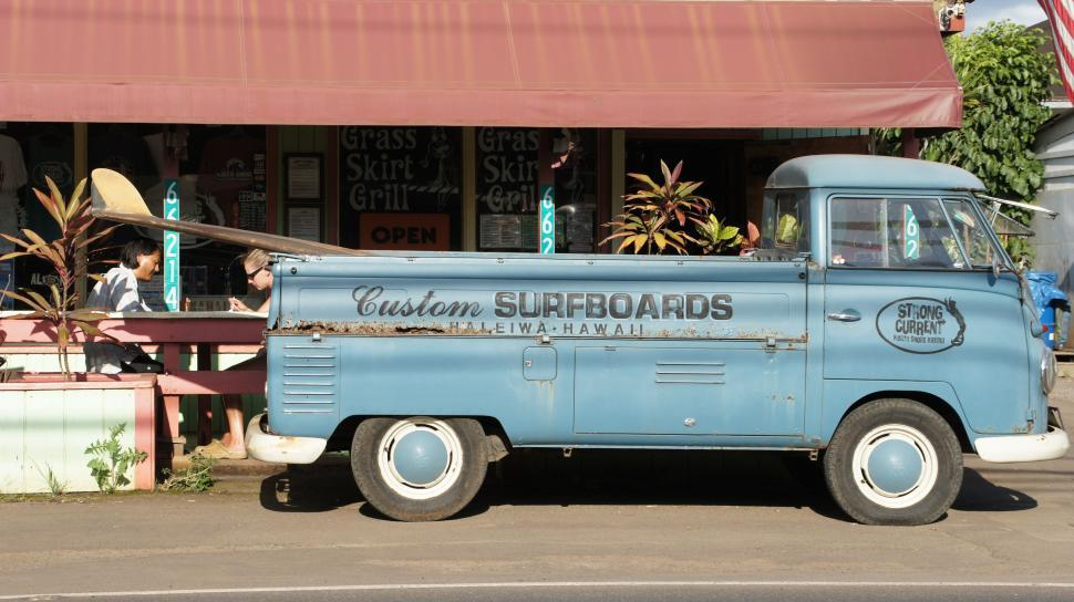 Download Free Stock HD Photo of Surfboard Truck in Hawaii Online