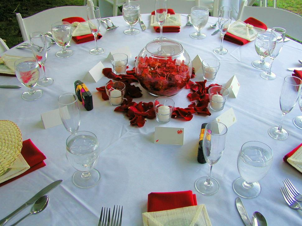 Download Free Stock Photo of Wedding Tables