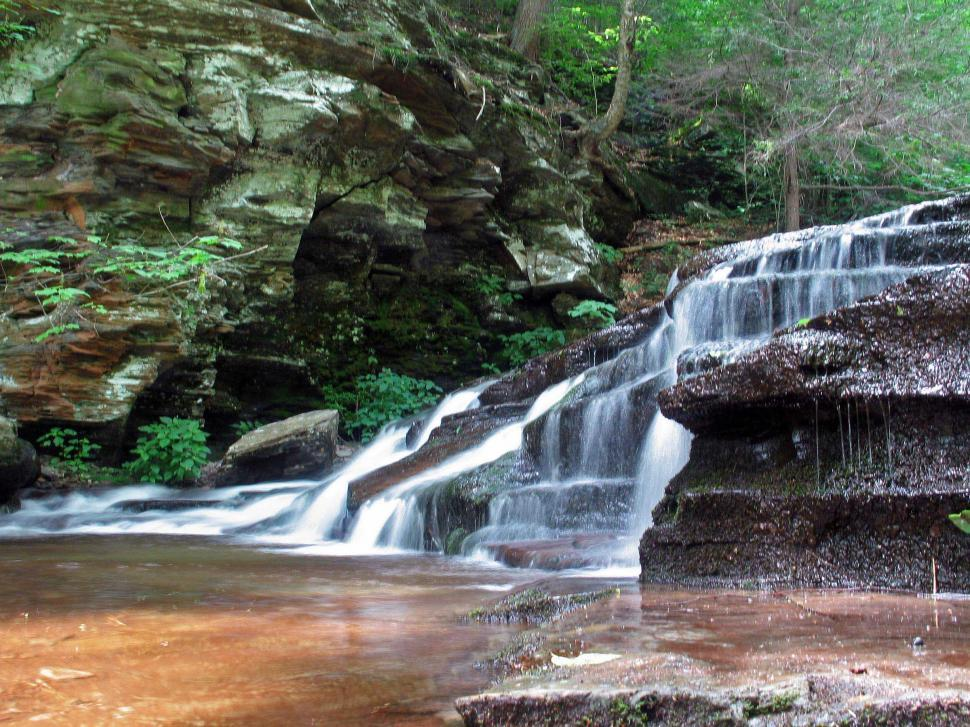 Download Free Stock Photo of Cascades at Ricketts Glen State Park, PA
