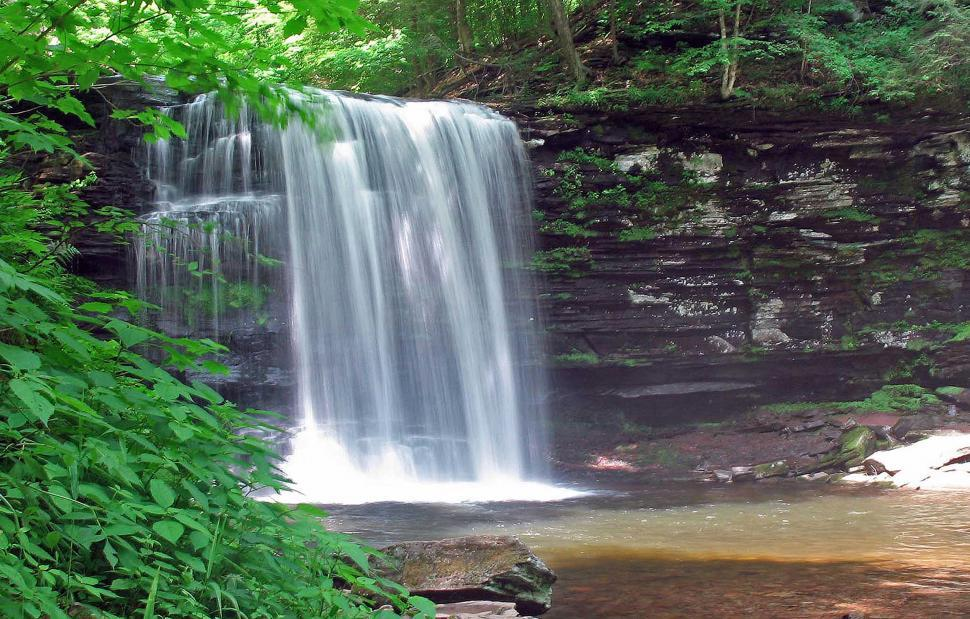 Download Free Stock Photo of Waterfall at Ricketts Glen State Park, Pennsylvania