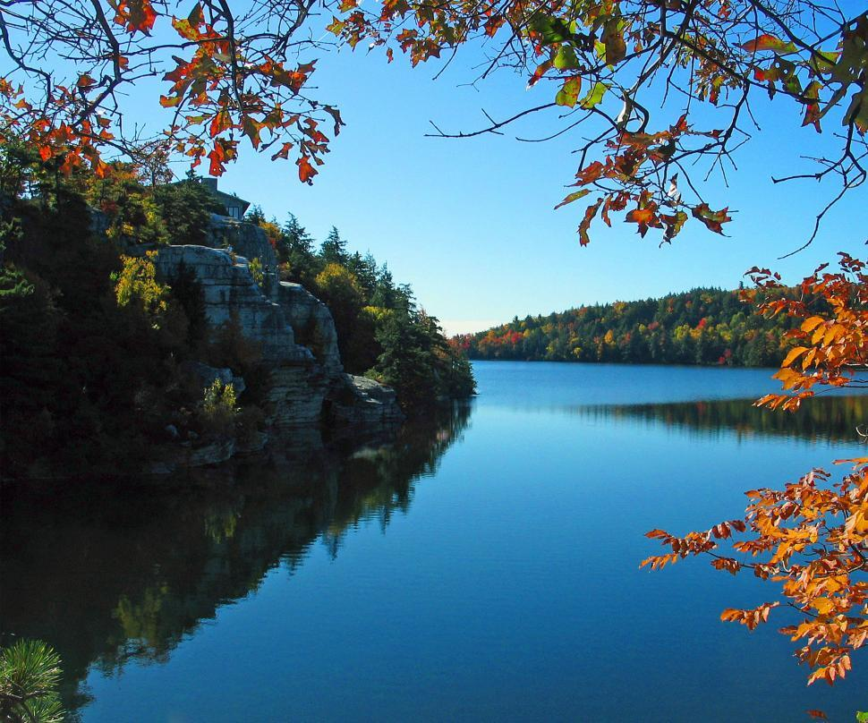 Download Free Stock HD Photo of Lake side in autumn Online