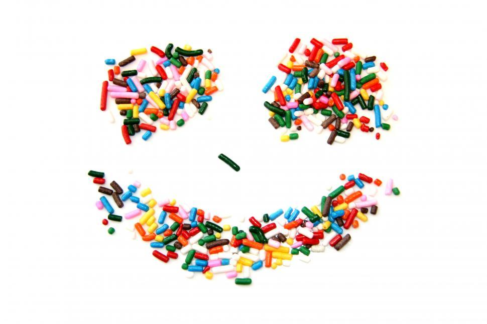 Download Free Stock HD Photo of Candy Sprinkle Smiley Face Online