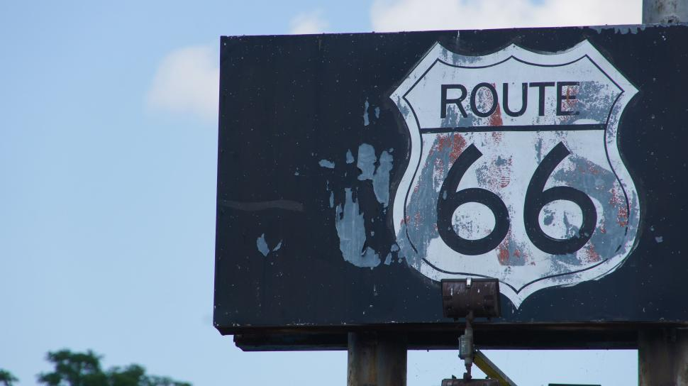 Download Free Stock Photo of Route 66 Sign