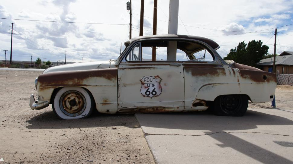 Download Free Stock HD Photo of Route 66 Abandoned Car Online