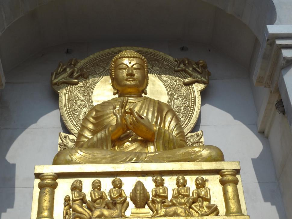 Download Free Stock Photo of Statue of  Gautam Budda