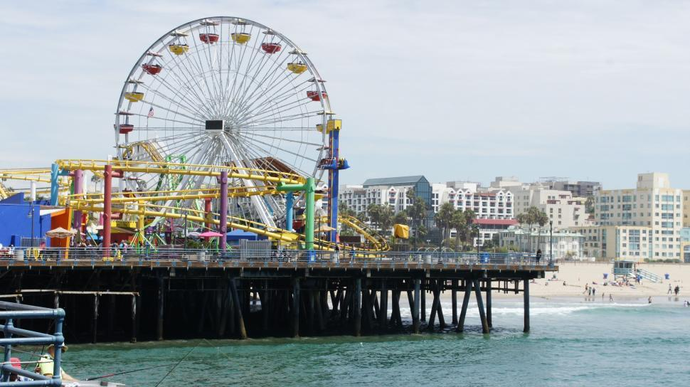 Download Free Stock Photo of Santa Monica Pier