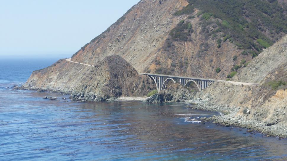 Download Free Stock Photo of Big Sur Bridge