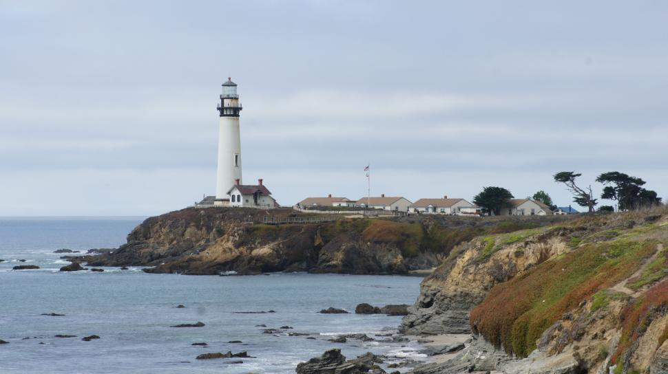Download Free Stock Photo of Pacific Coast Light House