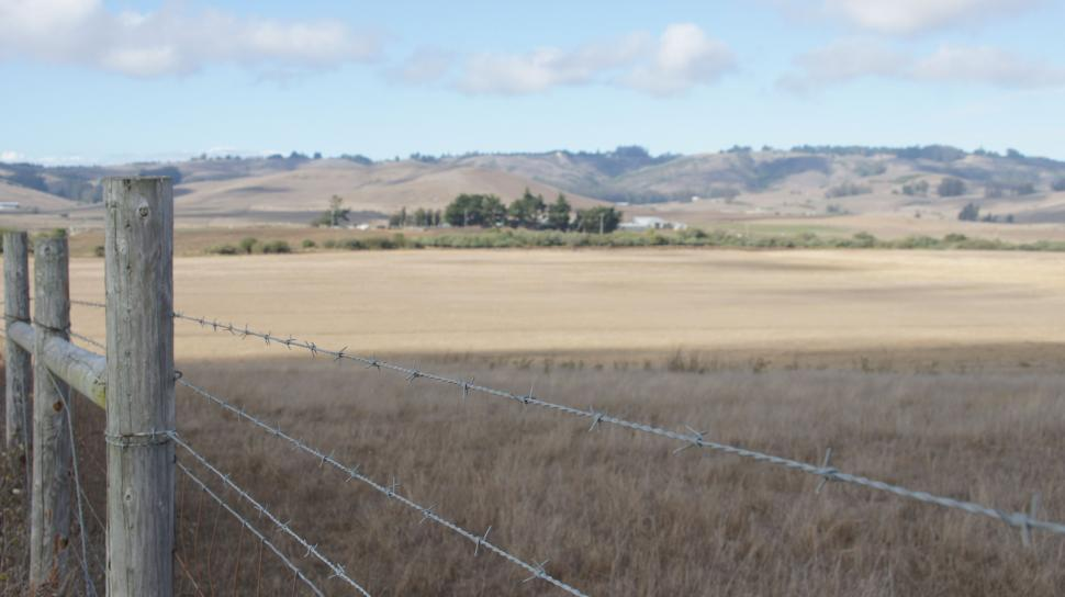 Download Free Stock Photo of California Mountain Landscape - Barbed Wire Fence