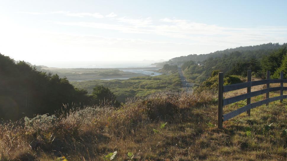 Download Free Stock Photo of Mountain Coastal View