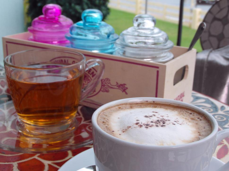 Download Free Stock HD Photo of Coffee with Jasmine Tea Online