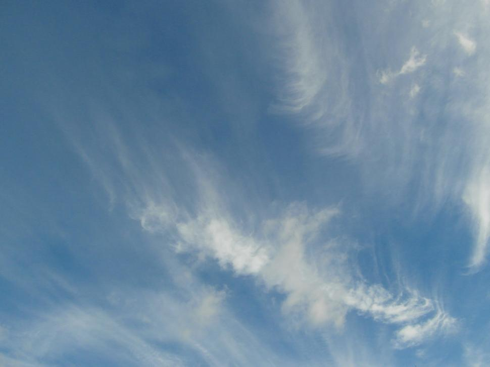 Download Free Stock HD Photo of Blue Sky Wispy Clouds Online