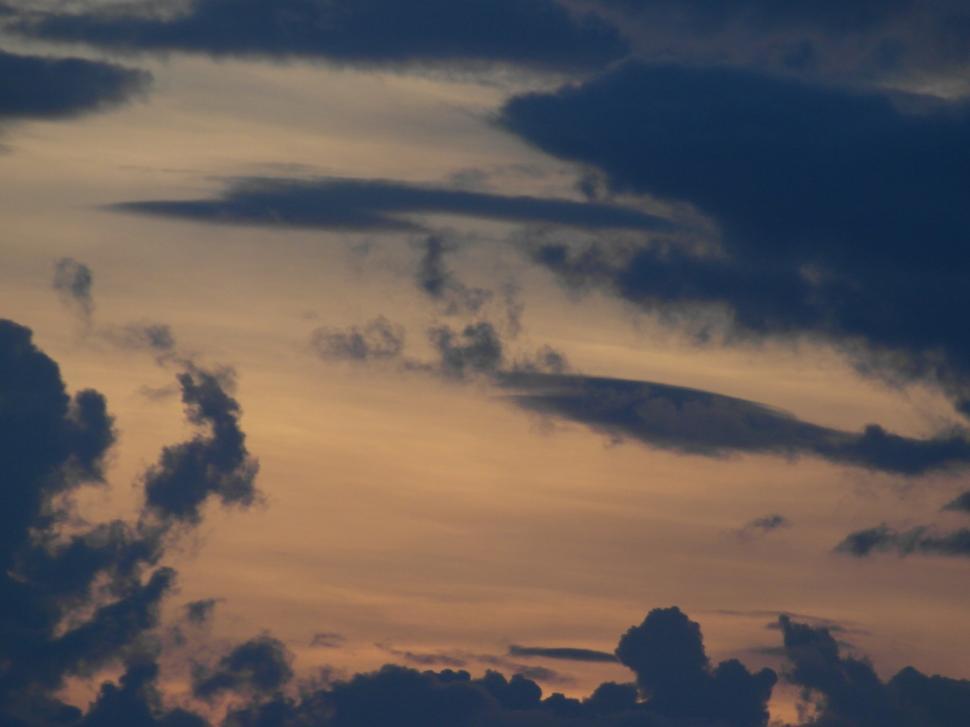 Download Free Stock Photo of Orange Sky Background