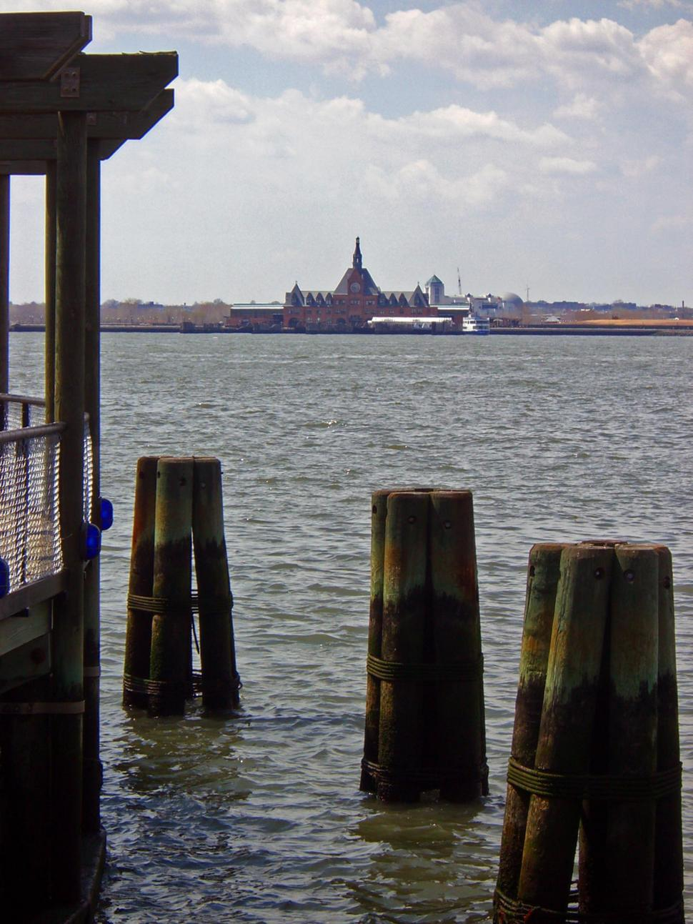 Download Free Stock HD Photo of Ellis Island and New Jersey View  Online