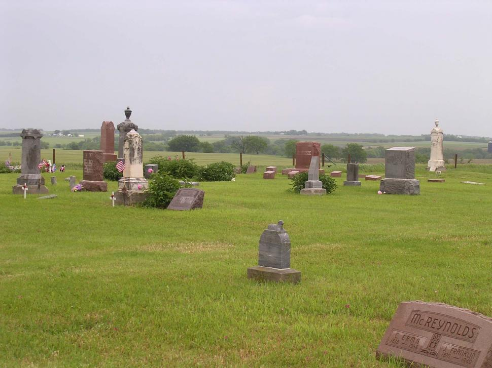 Download Free Stock Photo of Old country cemetery on a hill