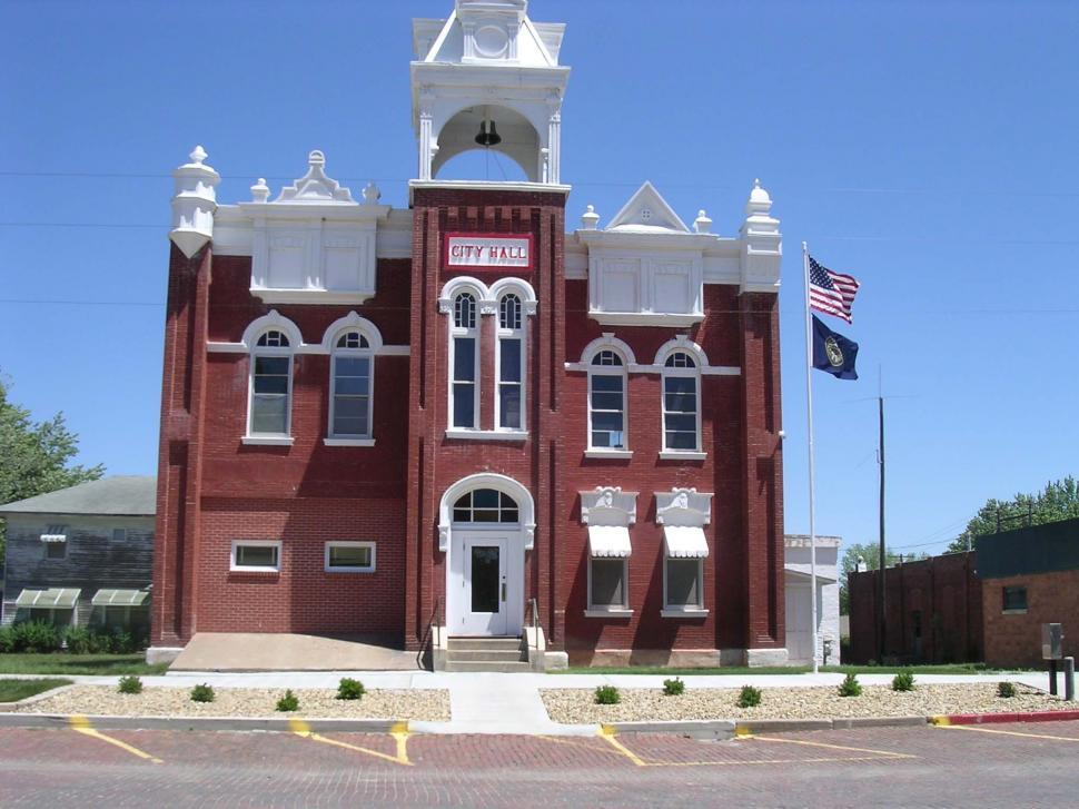 Download Free Stock Photo of Small town city hall