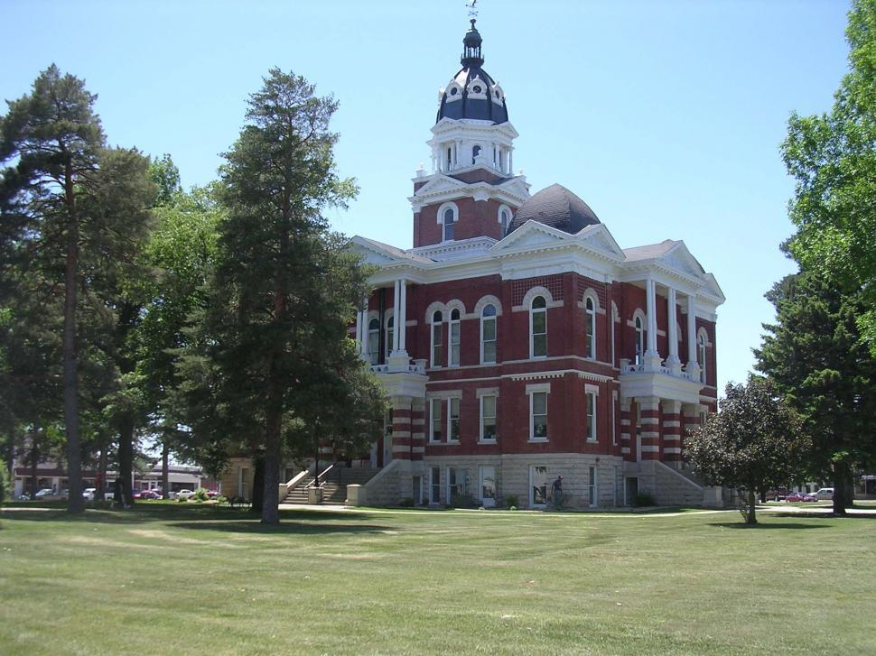 Download Free Stock Photo of Small town courthouse II