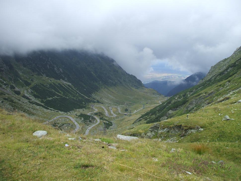 Download Free Stock HD Photo of Fragment of a high altitude Transfagarasan road in Romanian the mountains Online