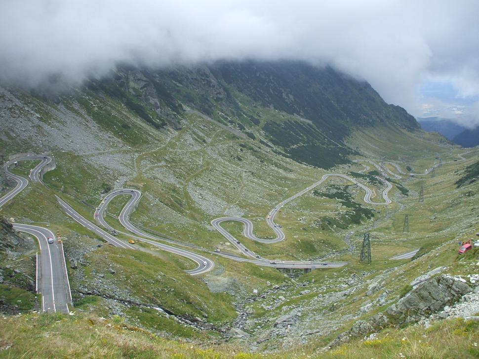Download Free Stock Photo of Fragment of a high altitude Transfagarasan road in Romanian the mountains