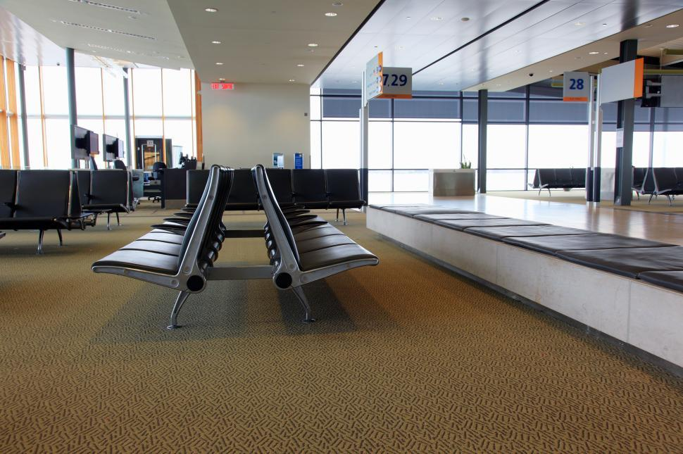 Download Free Stock Photo of Seating at airport terminal