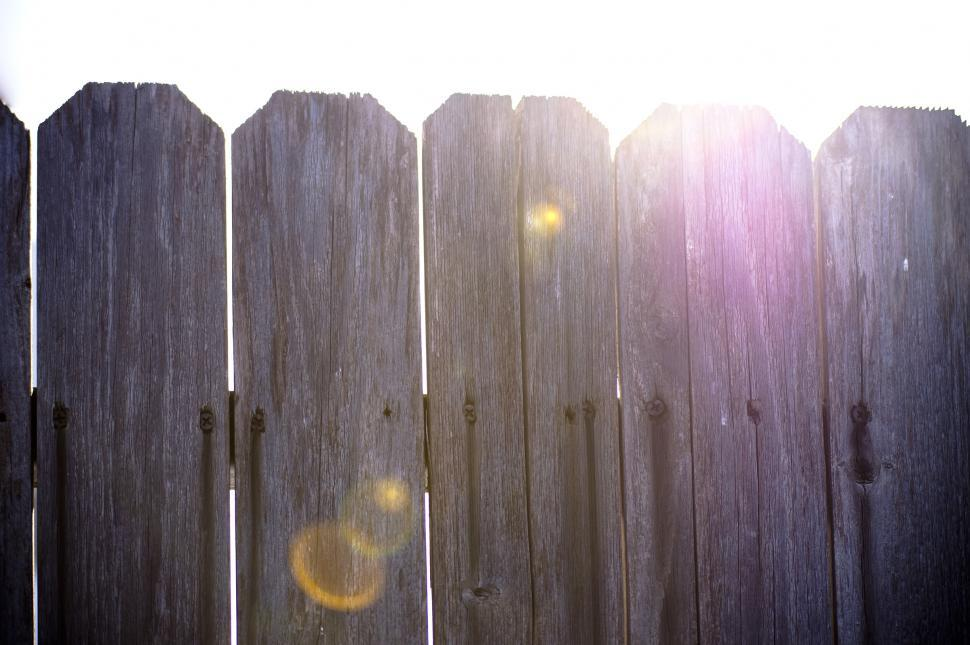 Download Free Stock Photo of Light behind fence