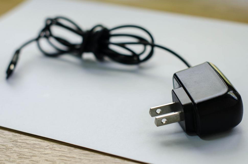 Download Free Stock Photo of A Mobile Phone Charger