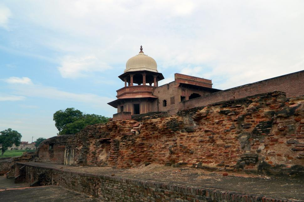 Download Free Stock Photo of Agra Fort Part View
