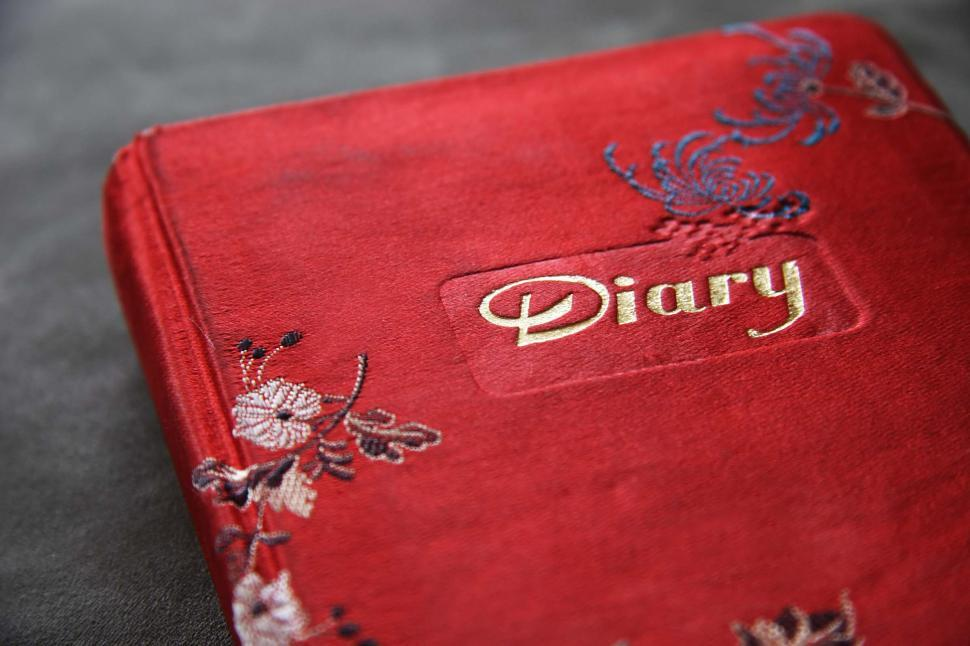 Download Free Stock HD Photo of Red Diary Book Cover Online