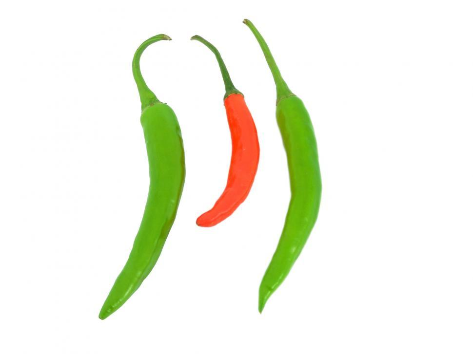 Download Free Stock Photo of Green and red pepper