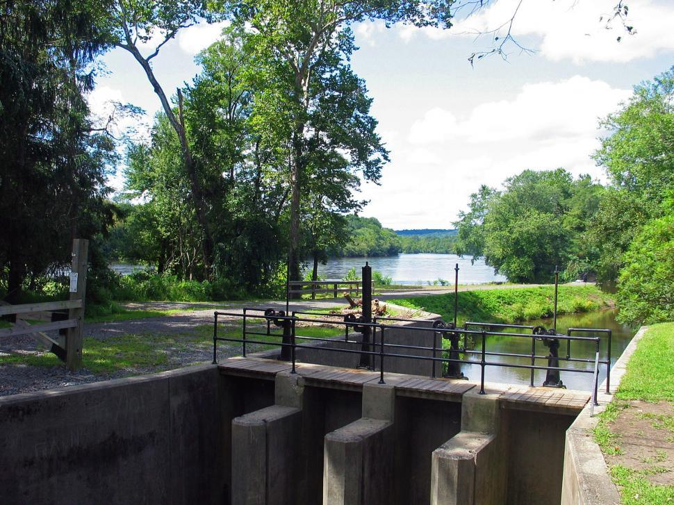 Download Free Stock HD Photo of Lock on the D&R Canal  Online