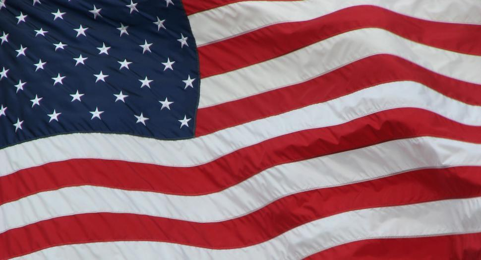 Download Free Stock HD Photo of Close-up Of An American Flag Online