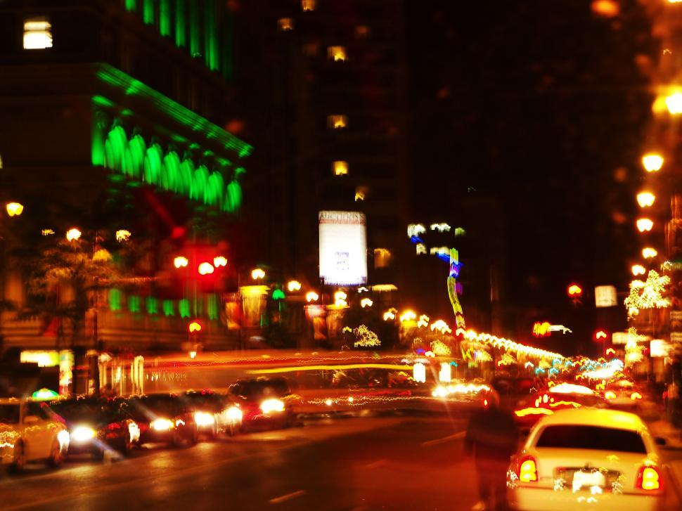 Download Free Stock HD Photo of Blurry Night Life Online