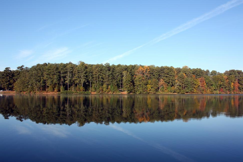 Download Free Stock HD Photo of An autumn landscape with a reflection in a lake Online