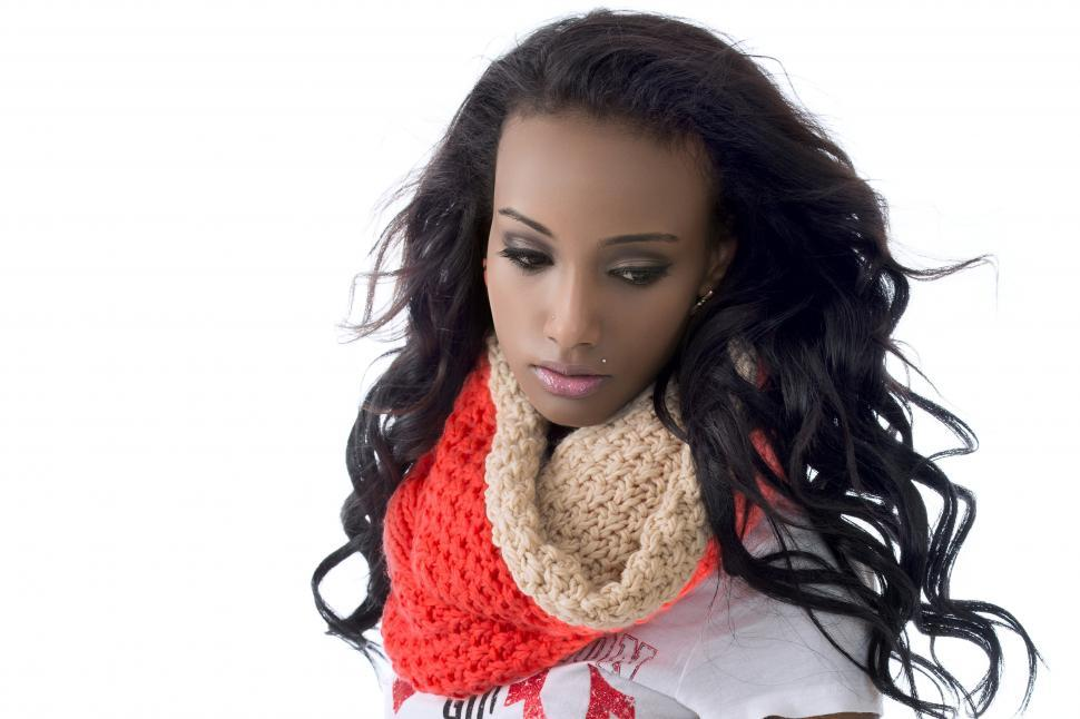Download Free Stock HD Photo of Young woman in scarf Online