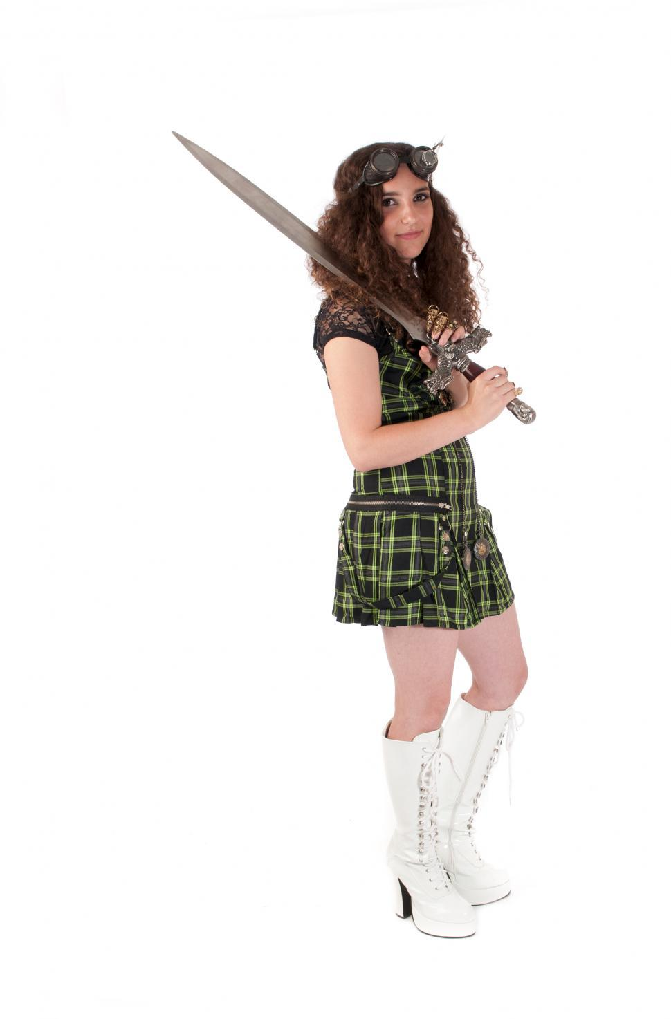 Download Free Stock Photo of Warrior girl