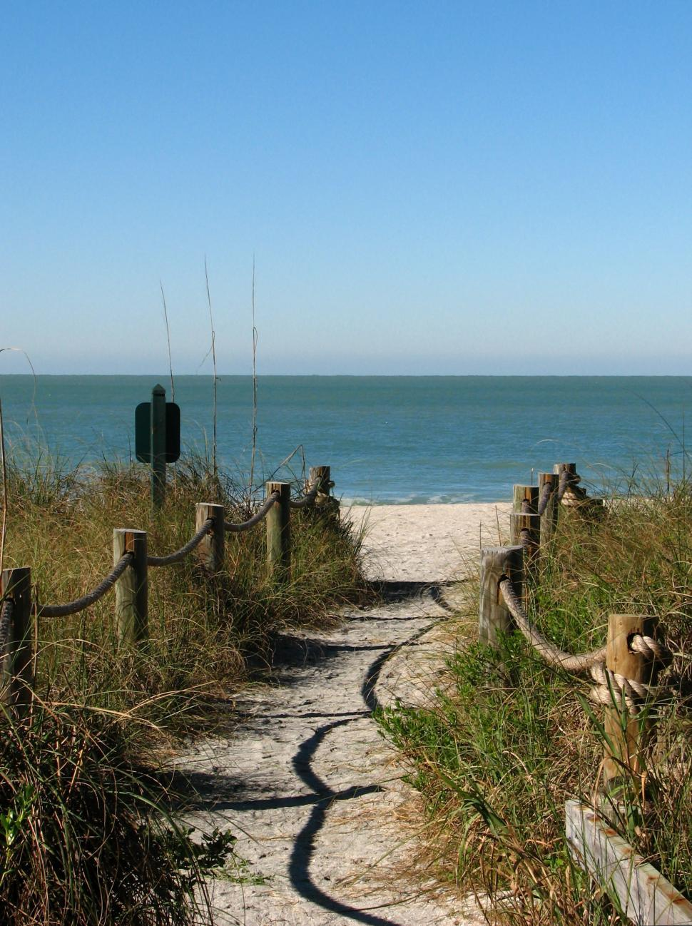 Download Free Stock Photo of A path heading to the beach