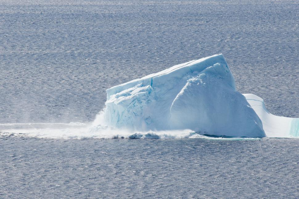 Download Free Stock Photo of Collapsing Iceberg