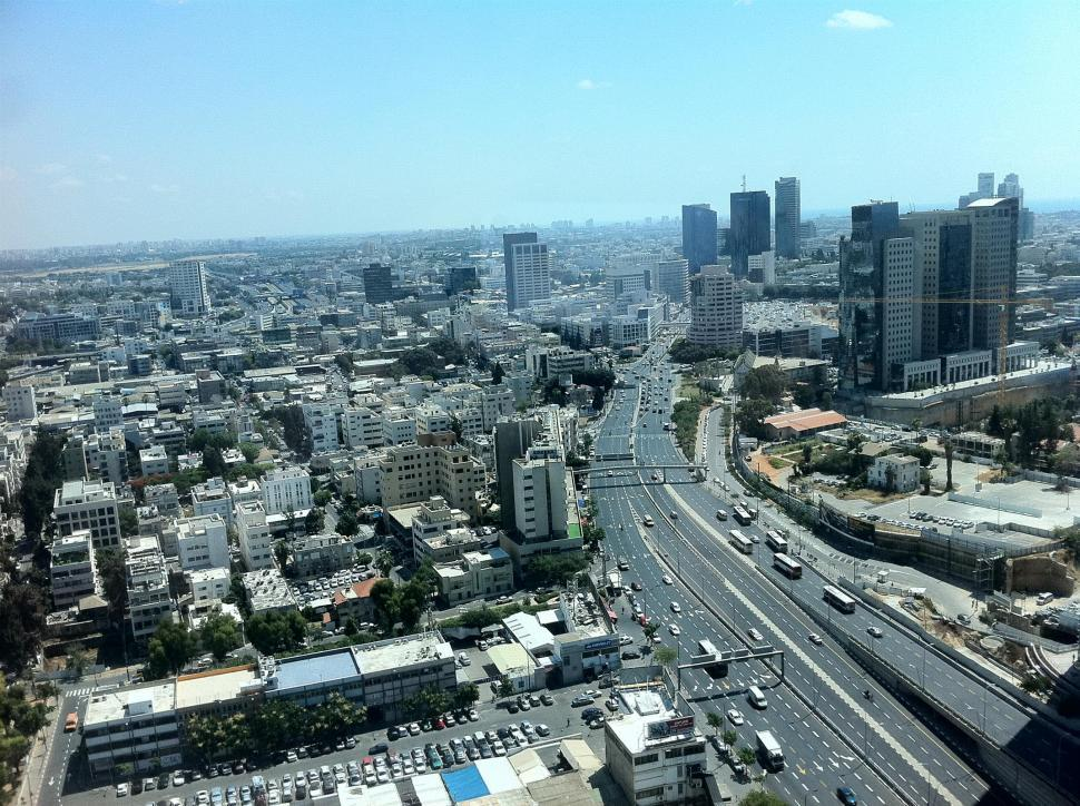 Download Free Stock HD Photo of Panoramic view of Tel-Aviv city Online