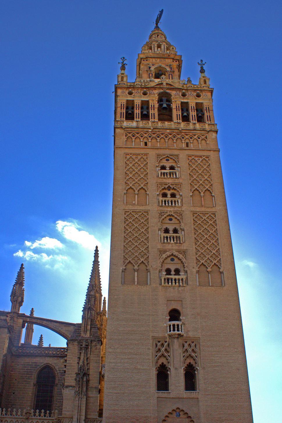 Download Free Stock Photo of La Giralda tower in Seville, Spain