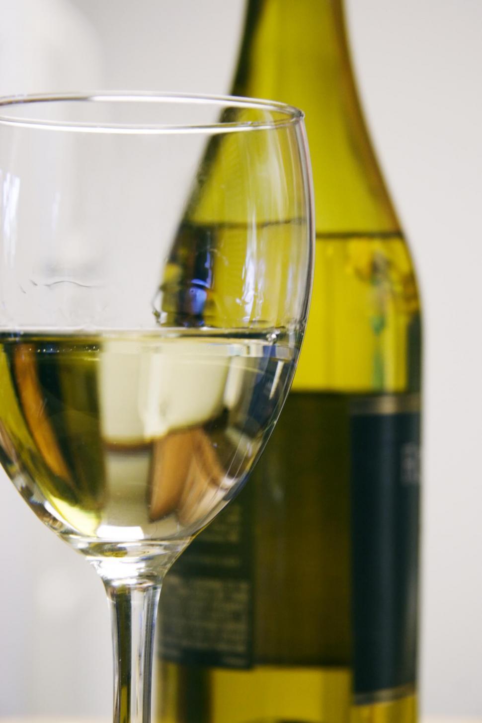 Download Free Stock Photo of White wine