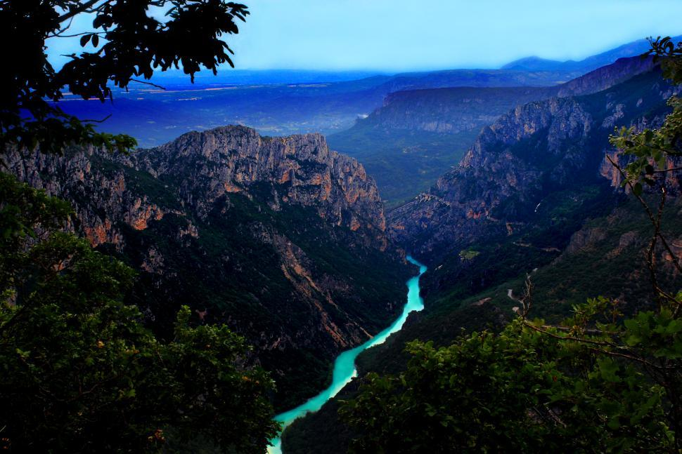 Download Free Stock Photo of Viewpoint over the Verdon River Gorge in Provence, France