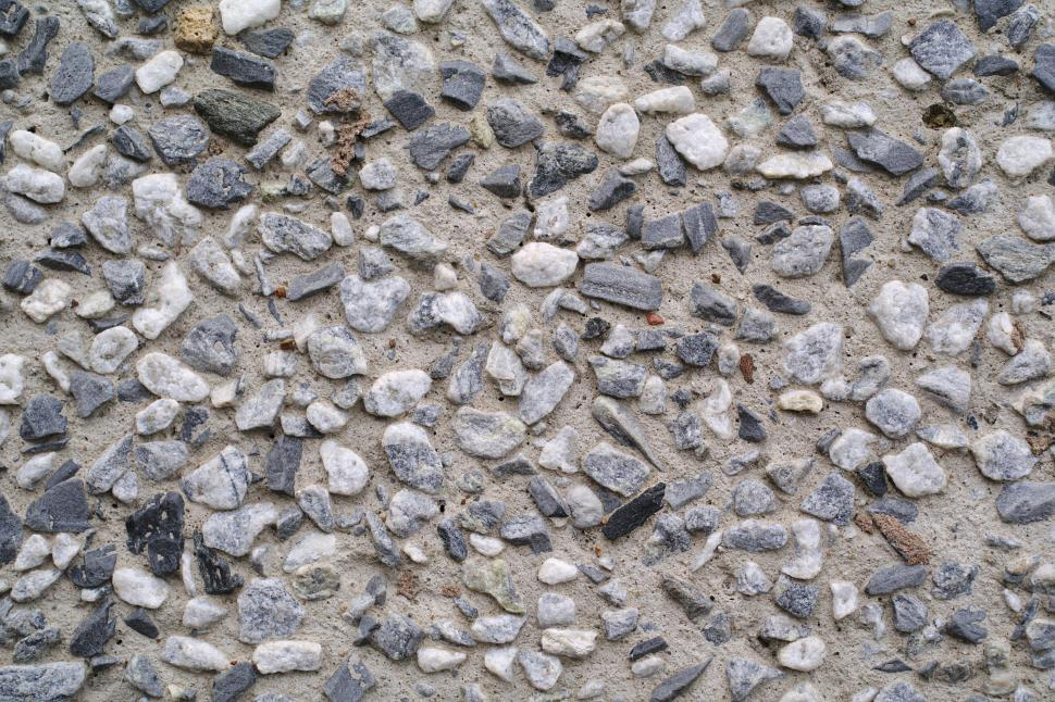 Download Free Stock Photo of Cemented gravel wall