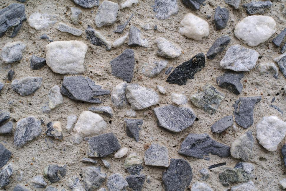 Download Free Stock Photo of Cemented gravel wall close-up