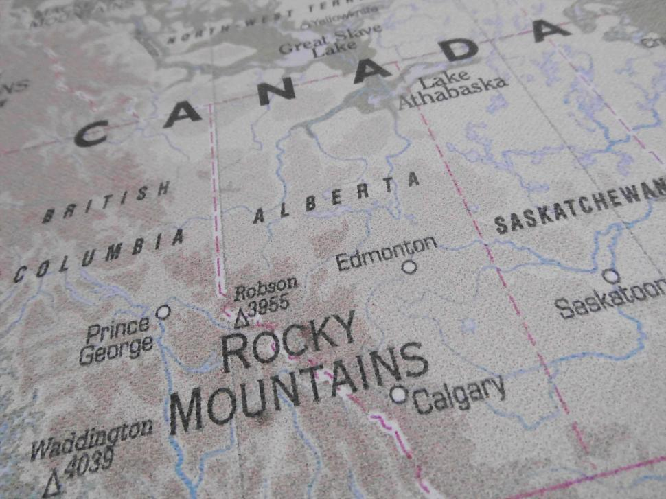 Download Free Stock Photo of Canada Map